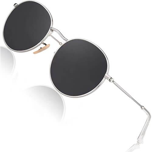 CGID Retro Vintage Sonnenbrille rund-Festival Style