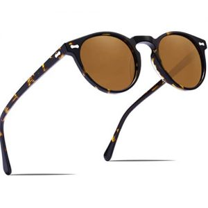 Carfia Runde Polarisierte Sonnenbrille-Festival-Style