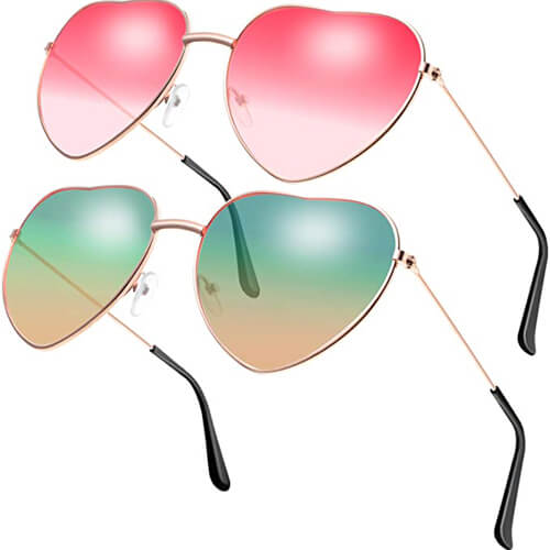 Hippie Sonnebrille Herzform-2