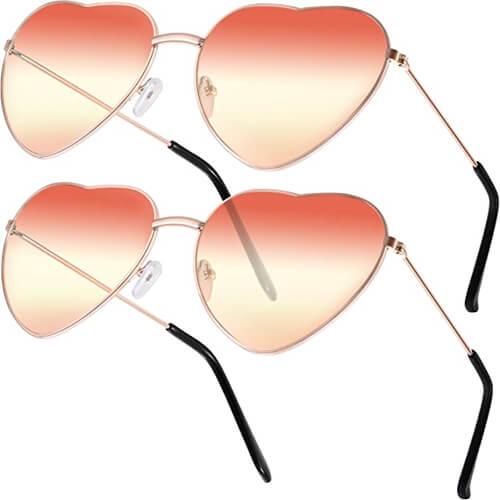 Hippie Sonnebrille Herzform-3