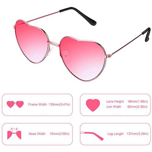 Hippie Sonnebrille Herzform-4