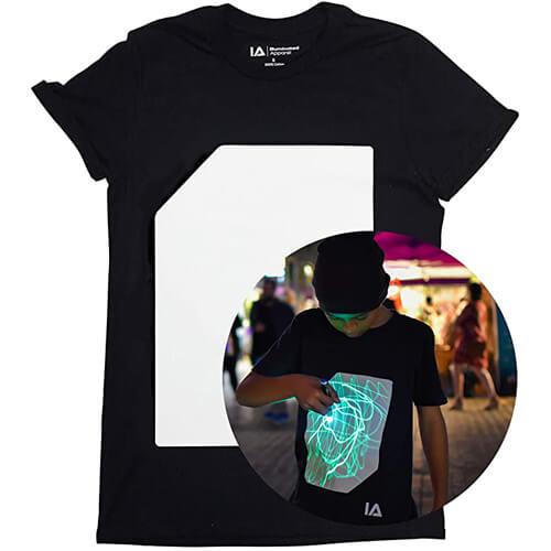 Illuminated Interaktive Leicht T-Shirt Herren-Festival Rave-1