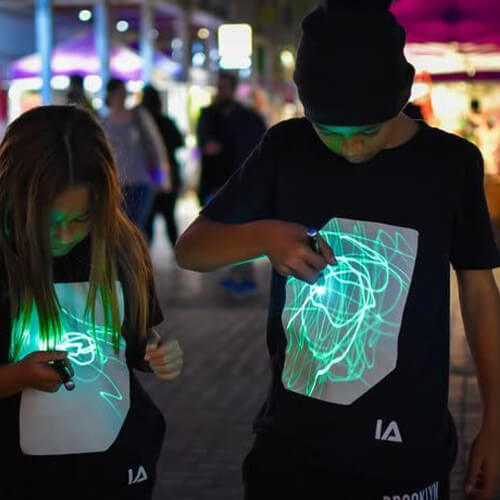 Illuminated Interaktive Leicht T-Shirt Herren-Festival Rave-2
