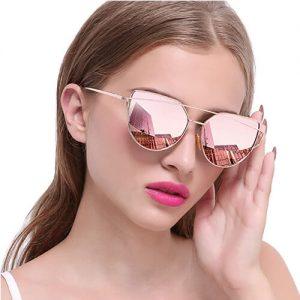 Joopin Cateye Sonnenbrille Polarisiert-Festival Style