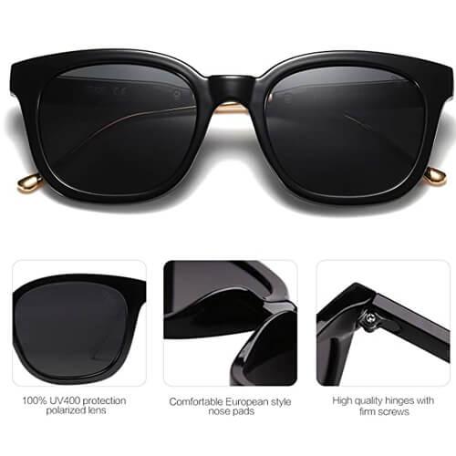 SOJOS übergroße Sonnenbrille-rechteckig-polarisiert-Festival Style