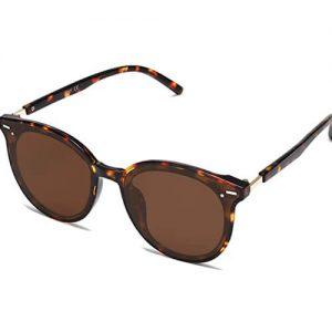 SOJOS Retro Runde Sonnenbrille Horn-Festival Brille-2