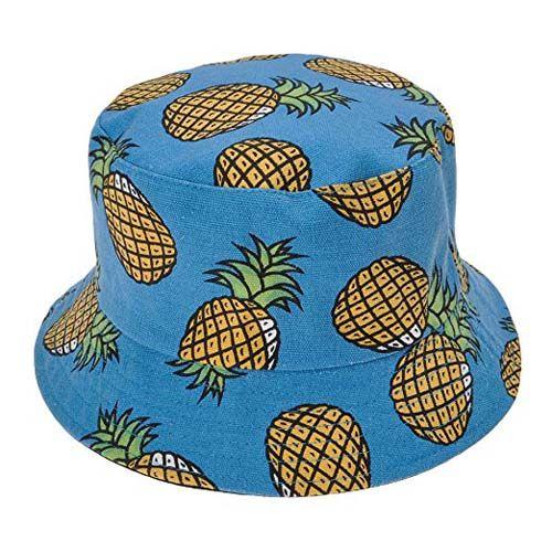 Sonnenhut-Strandhut-Bucket-Hat-Früchte-Muster-1
