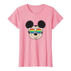 T-Shirt Mickey Mouse Rainbow Sunglasses-Festival Outfit
