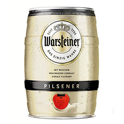 warsteiner premium pilsener 5 liter partyfass mit zapfhahn. Black Bedroom Furniture Sets. Home Design Ideas