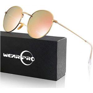 wearPro Retro Sonnenbrille-rund verspiegelt polarisiert-Retro Festival Sonnenbrille-1